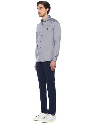 Beymen Club Slim Fit Uzun Kollu Gömlek Siyah